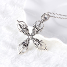 925 joyas de plata esterlina de plata tailandesa retro mens waterlines cruz hombres collar colgante y modelos masculinos