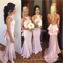 Personality Design Charming Backless Long Chiffon Mermaid Bridesmaid Dresses 2016 Women Elegant Dress For Wedding ML121