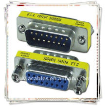 NEW 15 Pin VGA SVGA Male to Female Connector Coupler Adapter /VGA adaptor