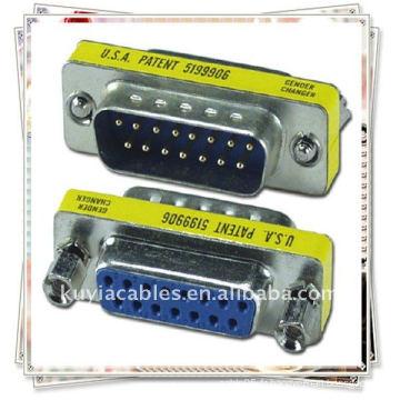NOUVEAU Connecteur femelle VGA VGA 15 broches à connecteur femelle Adaptateur adaptateur / adaptateur VGA
