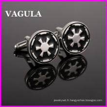 VAGULA qualité Silver Star War boutons de manchettes (HL10134)