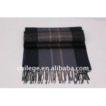 Men cashmere scarf winter men scarf checked men scarf stoles and shawls fleece set