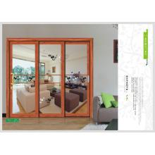 3 de panel de vidrio de la puerta puerta corrediza de vidrio