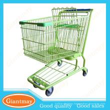 120L trinidad and tobago metal powder coating shopping cart wholesale