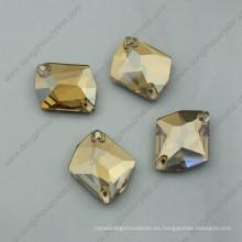 Piedras de prendas de vestir doradas Piedras de cristal sueltas