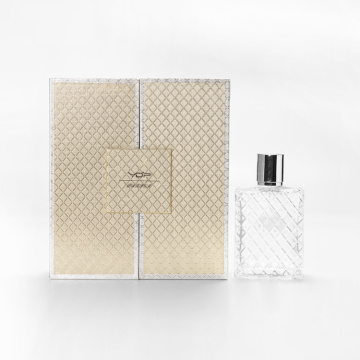 Empty 50ml Gold Perfume Packaging Boxes