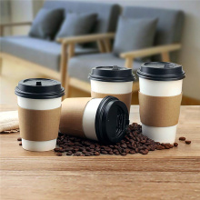 Professional Custom High-quality Disposable Coffee Cup Holder Paper Mug Cup Sleeve