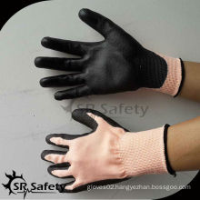 SRSAFETY glove PU coated gloves cut resistant grade 5