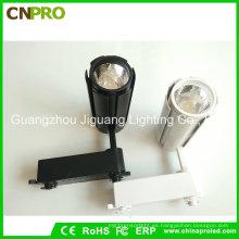 COB 15W LED Track Light para comerciales con carcasa negra o blanca
