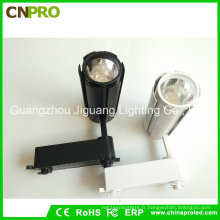 Éclairage sur rail LED COB 15W pour le commerce avec boîtier noir ou blanc