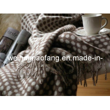Woven Woolen Pure Merino Wool Blanket Throw (NMQ-WT047)