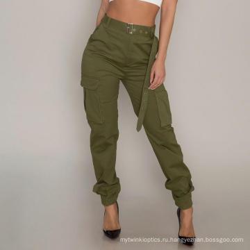Индивидуальные женские брюки-карго с высокой талией повседневная одежда