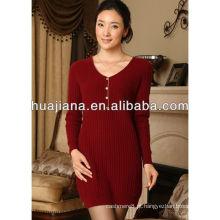 Vestido de malha de cashmere de boa qualidade para mulheres