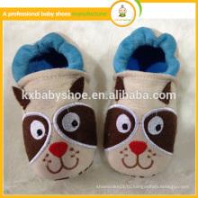 Топ продавать симпатичный рисунок животного мягкой подошвы оптовые детские кожаные туфли