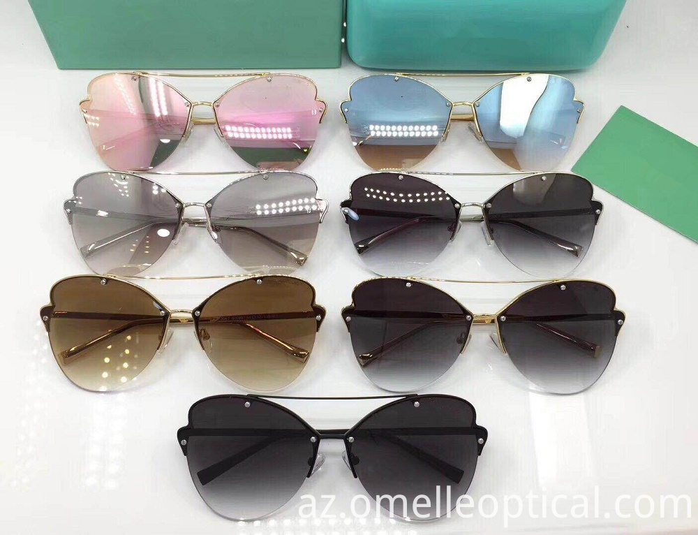 Butterfly Semi Rimless Sunglasses