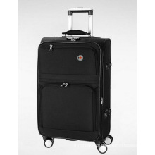 Polyester Soft Built-in Trolley Travel Luggage Case Suitcase
