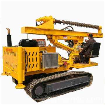 Hydraulic+screw+steel+post+ramming+spiral+piling+machine