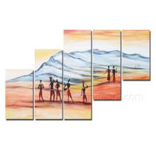 Neuer Entwurf afrikanische Abbildung Malerei auf Segeltuch für Hauptdekoration (AR-138)