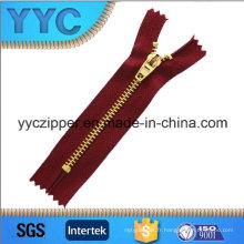 4 # Brass Gold Dents Close End Metal Zipper pour sacs