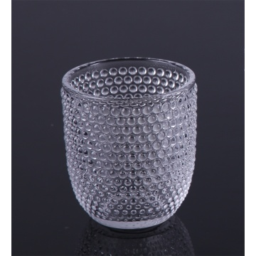 Clear Bubble Water Glass