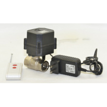 Hot Sale Wireless Control Shut off Device Water Valve Motorized Ball Valve with CE