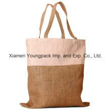 Bolsa ecológica de 10oz algodón y combinación de yute de compras
