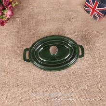 10cm ovel enamel cast iron mini stock pot