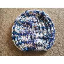 women winter fancy yarn fashion acrylic knitted beanie hat