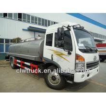 12t fresh milk transport truck,stainless steel milk tanker