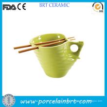 Handmade Convenient Special Shape Ceramic Noodle Bowl
