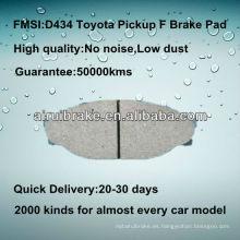 D434 Toyota piezas de freno para recolección