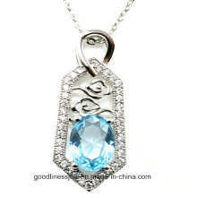 Good Quality and AAA CZ Jewelry 2015 Wholesale Silver Jewelry Pendant P4978