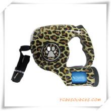 Correa del animal doméstico con linterna y leopardo de impresión para la promoción