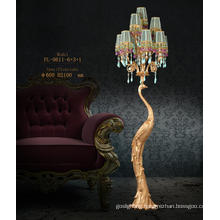 Fancy Decorative Brass Floor Lamp (FL-6011-6+3+1)