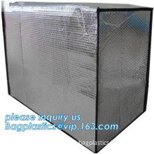Pallet cover thermal insulated material Aluminum foil fireproof heat insulation, thermal insulation pallet cover plastic