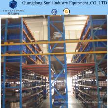 Sistema industrial do racking do assoalho de mezanino do apoio da prateleira do armazenamento do metal