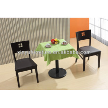 Modern metal dining table and wooden chair XDW2001