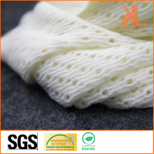 100% Acrylic White Small-Holed Hollow Warp Knitted Neck Scarf