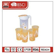 plastic water jug 1.2L with 4 cups