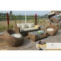 2017 EU luxury design rattan sofa set home furniture