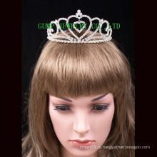 День святого Валентина тиара стразами конкурс короны сердце дизайн головные уборы