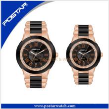 Casal Relógio De Pulso De Luxo Relógio De Aço Inoxidável Relógio Mecânico