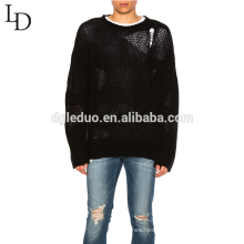 Mens latest sweater design custom oversized ugly pullover cashmere man sweater