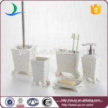 Royal elegance design branco cerâmica banheiro amenidade set