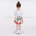 baby frock designs white flower infant children dress Little Girls Party Wear flower girl dress with long sleeve