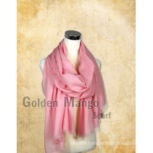 Fashion Plain mercerized wool Scarf