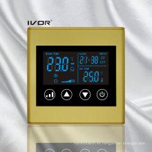 Interruptor táctil del termóstato del acondicionador de aire de 2 tubos en marco plástico (SK-AC2300L8-2P-N)