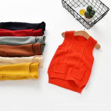 Новый стиль шерстяной свитер пуловер дизайн свитер жилет для ребенка, Вязание пуловер свитер дети одежда