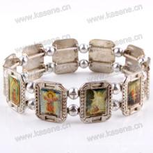 Modische Metall Rosenkranz Armband Saint Armband