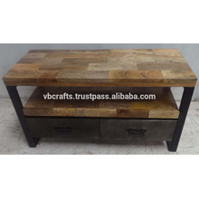 Industrial Urban Loft TV Stand Mango Holz Top